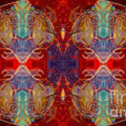 Repeating Realities Abstract Pattern Artwork By Omaste Witkowski Poster