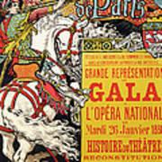 Reproduction Of A Poster Advertising The Fetes De Paris Poster