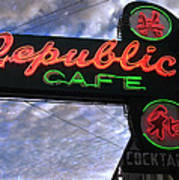Republic Cafe Poster by Gail Lawnicki