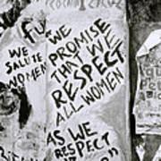 Respect Women Graffiti Poster