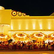 Restaurant Lit Up At Night, Miami Poster