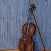 Resting Violin Poster