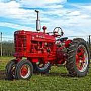 Restored Farmall Tractor Hdr Poster