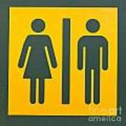 Restroom Sign Symbol For Men And Women Poster