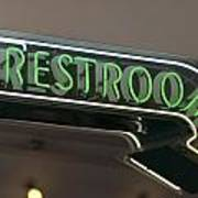 Restrooms In Neon Poster