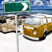 Retro Beach Van Poster