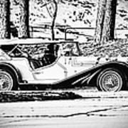 Retro Cabriolet Poster