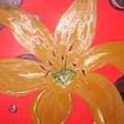 Retro Flower Poster