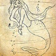Retro Mermaid Poster
