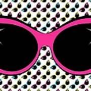 Retro Pink Cat Sunglasses Poster