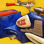 Retro Police Tricycle Poster