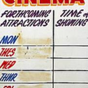Retro Roxy Cinema Sign Poster