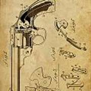 Revolving Fire Arm - Patented On 1885 Poster