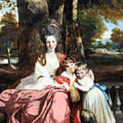 Reynolds' Lady Elizabeth Delme And Her Children Poster