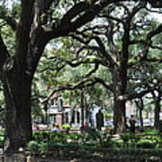 Reynolds Square In Savannah Poster