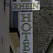 Rhine Hotel St Martin Sign  Poster