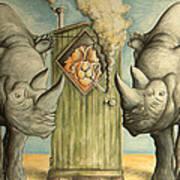 America Under Pressure - Anti Trump Cartoon Poster