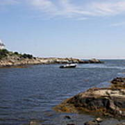 Rhode Island Seascape And House Poster