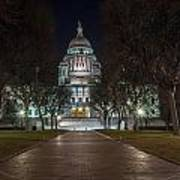 Rhode Island State House In Providence Rhode Island Poster