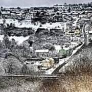 Rhymney Valley Winter 2 Poster