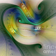 Rhythm Of Life-abstract Fractal Art Poster