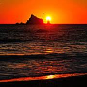 Rialto Beach Sunset Poster