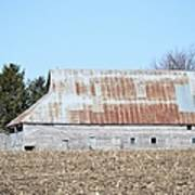 Ribbon Roof Barn Poster