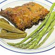 Ribs Plate With Vegetables Poster