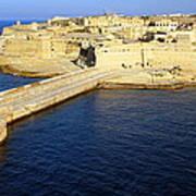 Ricasoli Breakwater At Valletta's Grand Harbor Poster