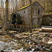 Rice Grist Mill And Threshing Barn  Poster