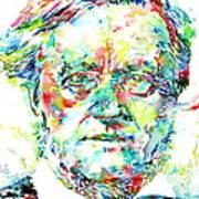 Richard Wagner Watercolor Portrait Poster