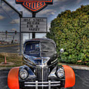 Ride A Harley Poster
