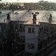 Ridgewood Houses Wet With Rain Poster by Mieczyslaw Rudek Mietko