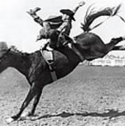 Riding A Bucking Bronco Poster