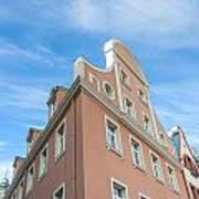 Riga Pink Building Poster