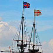 Rigging And Flags Poster