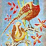 Ringneck Pheasants Poster