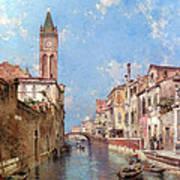 Rio St Barnaba Venice Poster