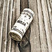 Rioja Wine Cork Poster by Frank Tschakert