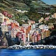 Riomaggiore Glory- Cinque Terre Poster