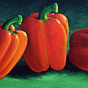 Ripe Red Peppers Poster