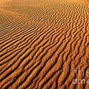 Ripple Patterns In The Sand 1 Poster
