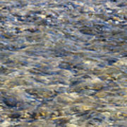 Rippling Water Over Rocks Poster