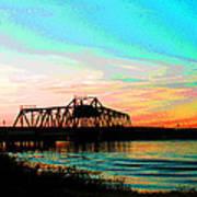 Rising Sun On The Mokelumne River Poster