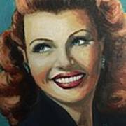 Rita Hayworth Poster by Shirl Theis