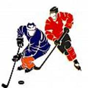 Rivalries Oilers And Flames Poster