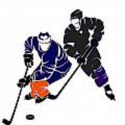 Rivalries Oilers And Kings Poster