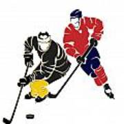 Rivalries Penguins And Capitals Poster