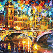 River City - Palette Knife Oil Painting On Canvas By Leonid Afremov Poster