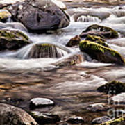 River Flowing Over Rocks Poster